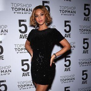Velvet Black Sequin Topshop Dress Size 10